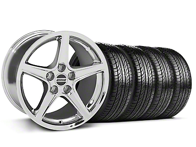 Saleen Style Chrome Wheel & Pirelli Tire Kit - 19x8.5 (05-14 GT, V6)