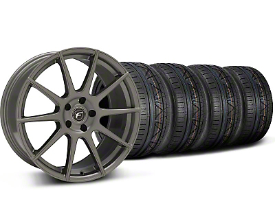 Forgestar CF10 Monoblock Gunmetal Wheel & NITTO INVO Tire Kit - 19x9 (05-14 All)