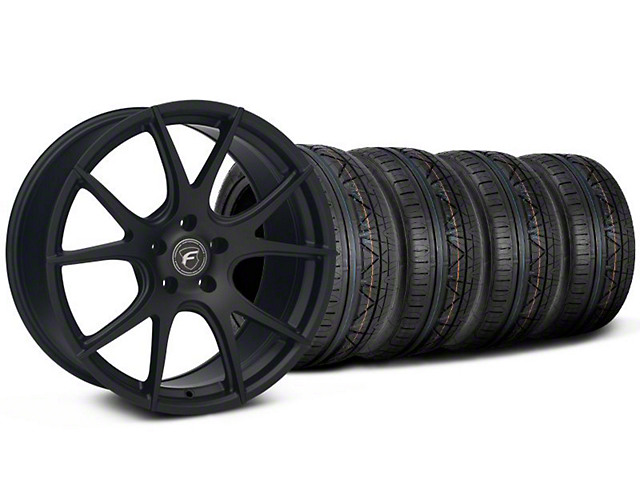 Forgestar CF5V Monoblock Matte Black Wheel and NITTO INVO Tire Kit; 19x9 (05-14 All)