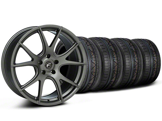 Forgestar CF5V Monoblock Gunmetal Wheel & NITTO INVO Tire Kit - 19x9 (05-12)