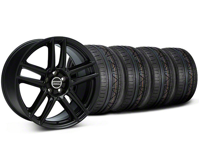 Laguna Seca Style Black Wheel & NITTO INVO Tire Kit - 19x9 (05-14 All)