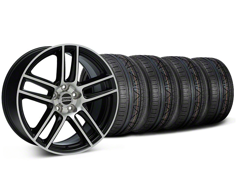 Laguna Seca Style Black Machined Wheel and NITTO INVO Tire Kit; 19x9 (94-04 All)