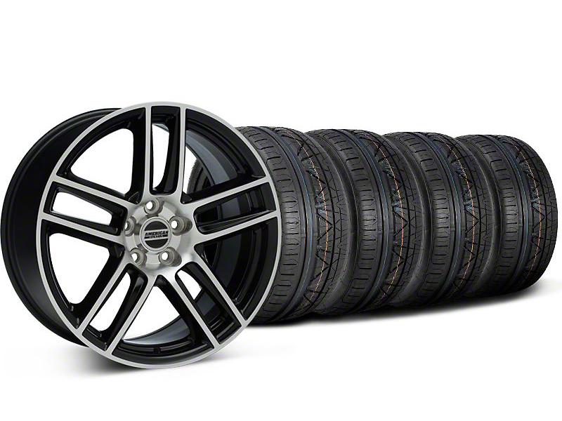 Laguna Seca Style Black Machined Wheel & NITTO INVO Tire Kit - 19x9 (94-04 All)