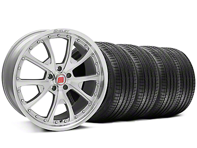 Shelby CS40 Silver Machined Wheel & Sumitomo Tire Kit - 20x9 (05-14)