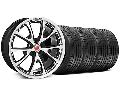 Shelby CS40 Black Machined Wheel & Sumitomo Tire Kit - 20x9 (05-14)