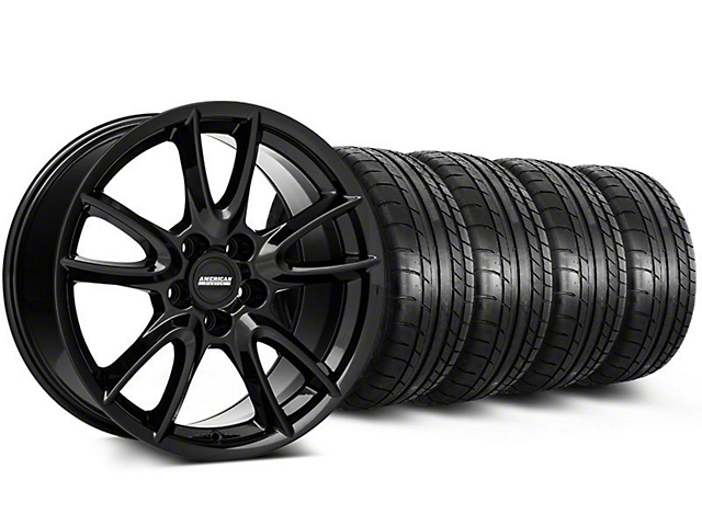 Track Pack Style Gloss Black Wheel & Mickey Thompson Tire Kit - 19x8.5 (05-14 All)