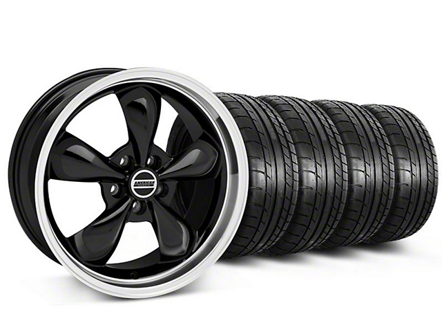 Bullitt Black Wheel and Mickey Thompson Tire Kit; 19x8.5 (05-14 Standard GT, V6)