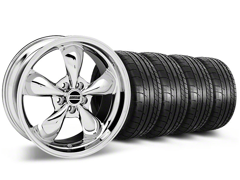 Bullitt Chrome Wheel & Mickey Thompson Tire Kit - 19x8.5 (05-14 Standard GT, V6)