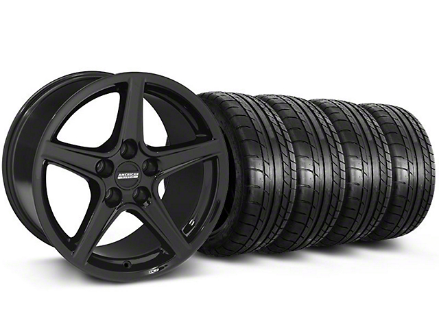 Saleen Style Black Wheel and Mickey Thompson Tire Kit; 19x8.5 (05-14 GT, V6)