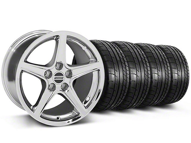 Saleen Style Chrome Wheel & Mickey Thompson Tire Kit - 19x8.5 (05-14 GT, V6)