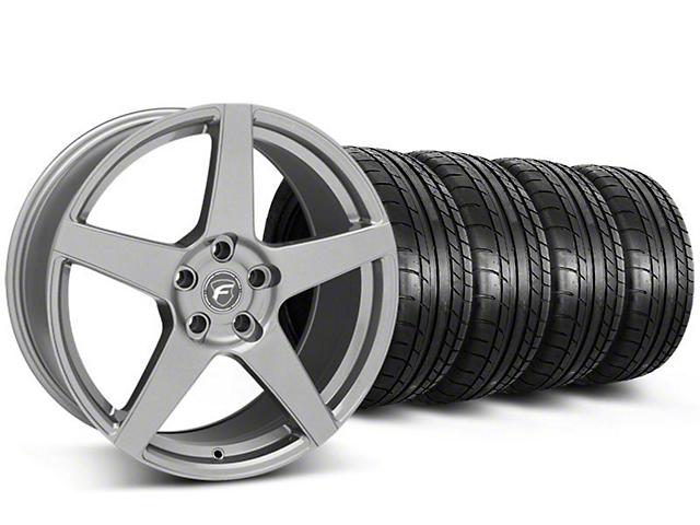 Forgestar CF5 Monoblock Gunmetal Wheel and Mickey Thompson Tire Kit; 19x9 (05-14 All)