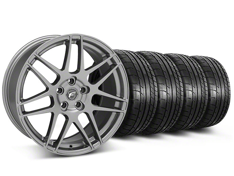 Forgestar F14 Monoblock Gunmetal Wheel and Mickey Thompson Tire Kit; 19x9 (05-14 All)