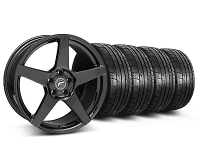 Forgestar CF5 Monoblock Gloss Black Wheel & Mickey Thompson Tire Kit - 19x9 (05-14 All)