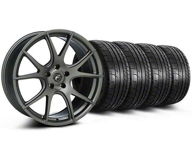 Forgestar CF5V Monoblock Gunmetal Wheel and Mickey Thompson Tire Kit; 19x9 (05-14 All)