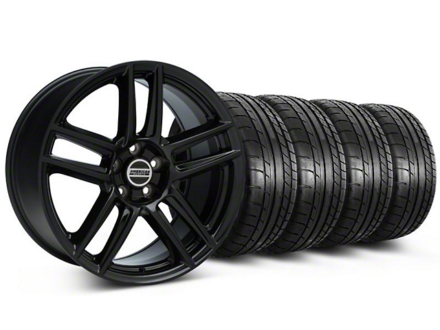 Laguna Seca Style Black Wheel and Mickey Thompson Tire Kit; 19x9 (05-14 All)