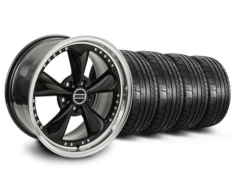 Bullitt Motorsport Black Wheel & Mickey Thompson Tire Kit - 20x8.5 (05-10 GT; 05-14 V6)