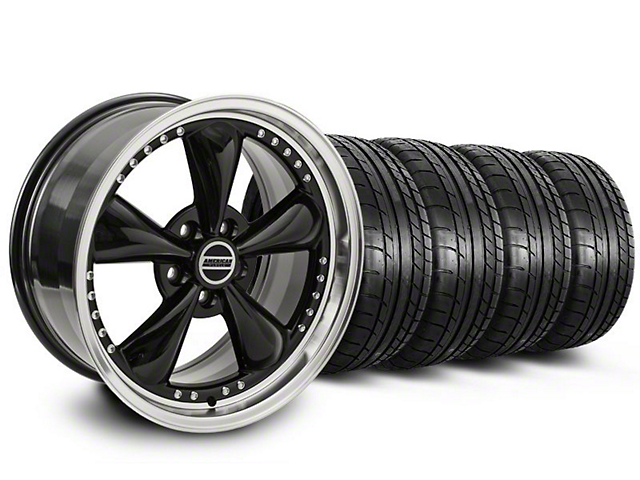 Bullitt Motorsport Black Wheel and Mickey Thompson Tire Kit; 20x8.5 (05-10 GT; 05-14 V6)