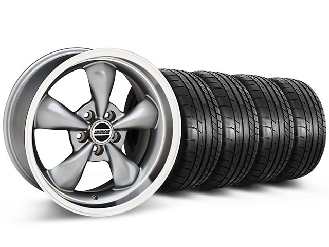 Deep Dish Bullitt Anthracite Wheel and Mickey Thompson Tire Kit; 20x8.5 (05-10 GT; 05-14 V6)
