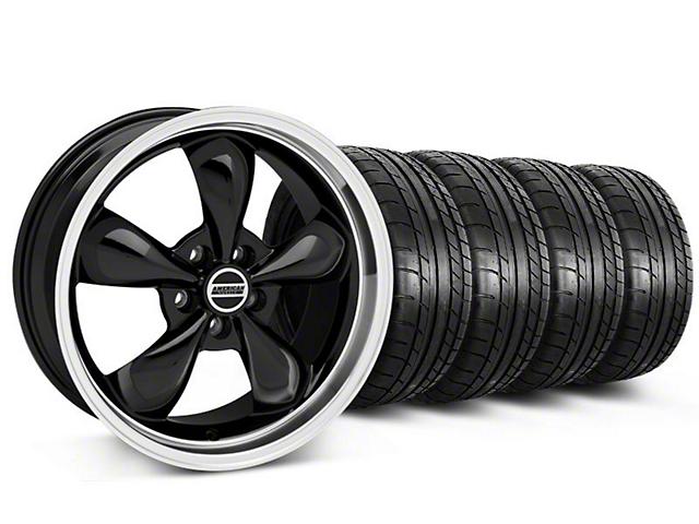 Deep Dish Bullitt Black Wheel & Mickey Thompson Tire Kit - 20x8.5 (05-10 GT; 05-14 V6)