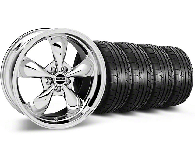 Deep Dish Bullitt Chrome Wheel and Mickey Thompson Tire Kit; 20x8.5 (05-10 GT; 05-14 V6)