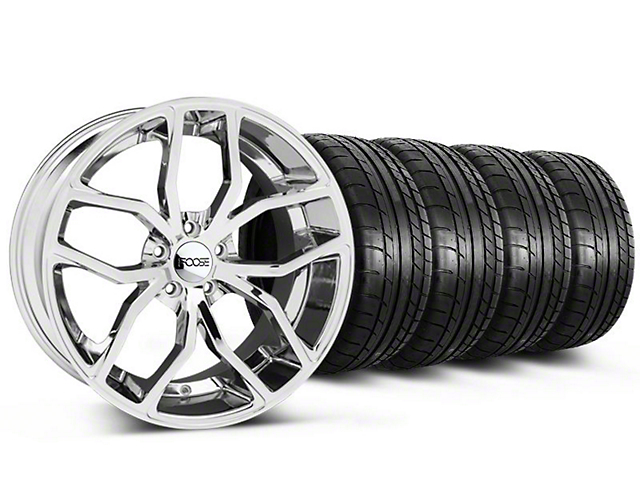 Foose Outcast Chrome Wheel and Mickey Thompson Tire Kit; 20x8.5 (05-14 All)