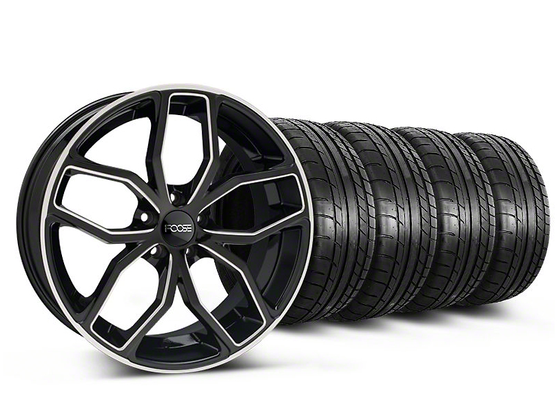 Foose Outcast Black Machined Wheel & Mickey Thompson Tire Kit - 20x8.5 (05-14 All)