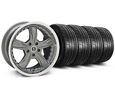 Shelby Razor Gunmetal Wheel & Mickey Thompson Tire Kit - 20x9 (05-14 GT, V6; 07-12 GT500)