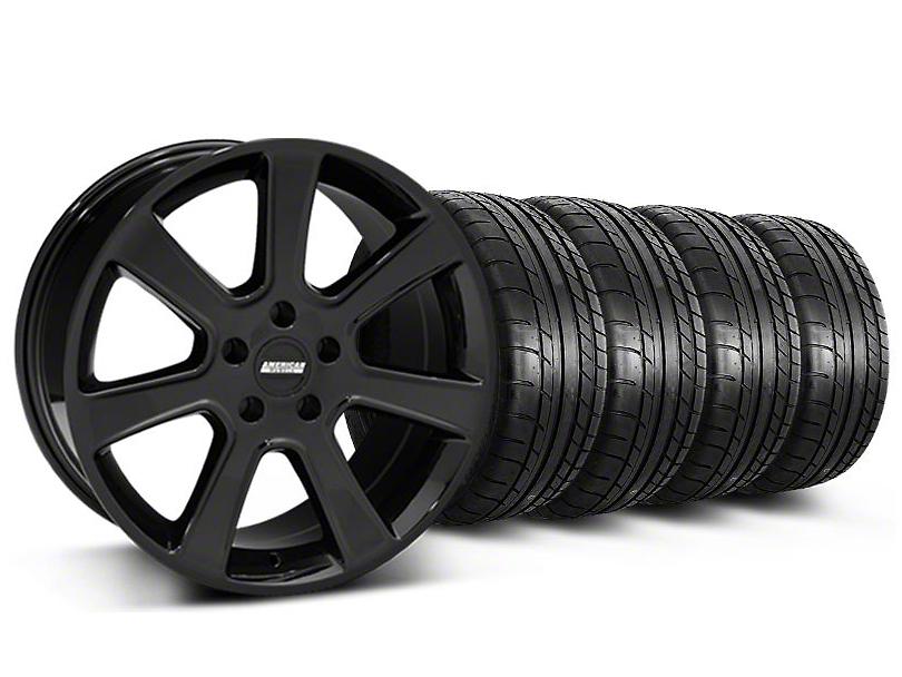 S197 Saleen Style Black Wheel & Mickey Thompson Tire Kit - 20x9 (05-14 All)