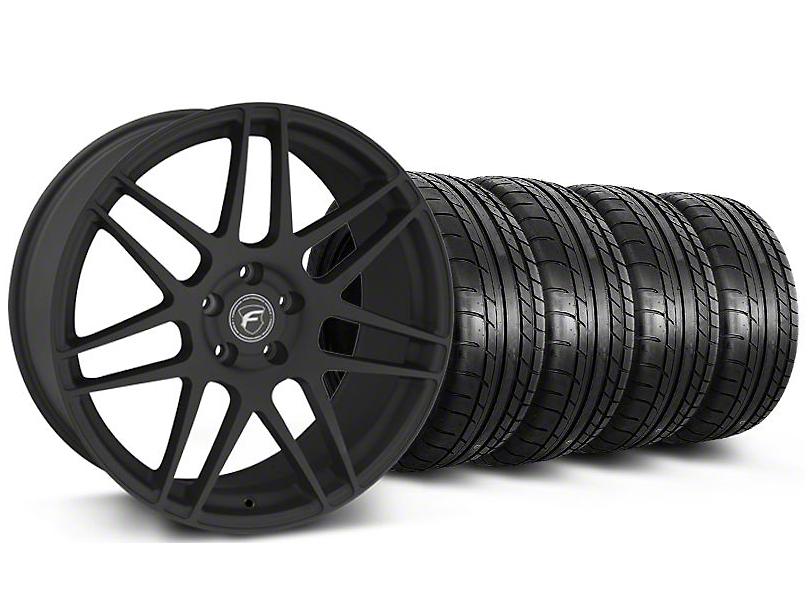 Forgestar F14 Monoblock Textured Black Wheel & Mickey Thompson Tire Kit - 20x9 (05-14)