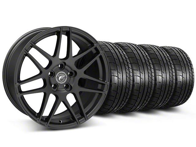 Forgestar F14 Monoblock Matte Black Wheel and Mickey Thompson Tire Kit; 20x9 (05-14 All)