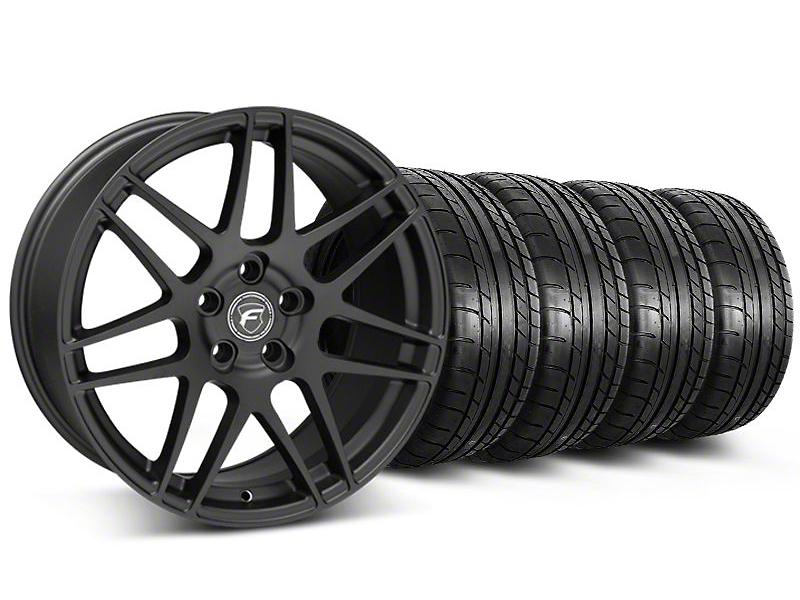 Forgestar F14 Monoblock Matte Black Wheel & Mickey Thompson Tire Kit - 20x9 (05-14 All)