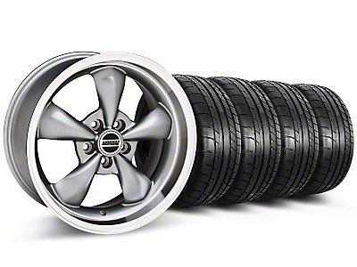 Deep Dish Bullitt Anthracite Wheel & NITTO INVO Tire Kit - 20x8.5 (05-10 GT, 05-14 V6)