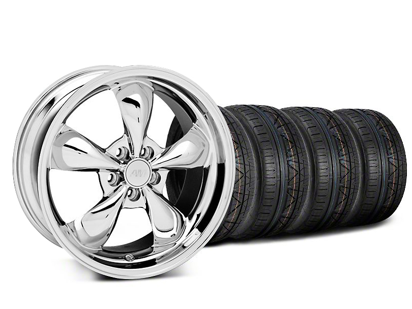 Deep Dish Bullitt Chrome Wheel and NITTO INVO Tire Kit; 20x8.5 (05-10 GT; 05-14 V6)