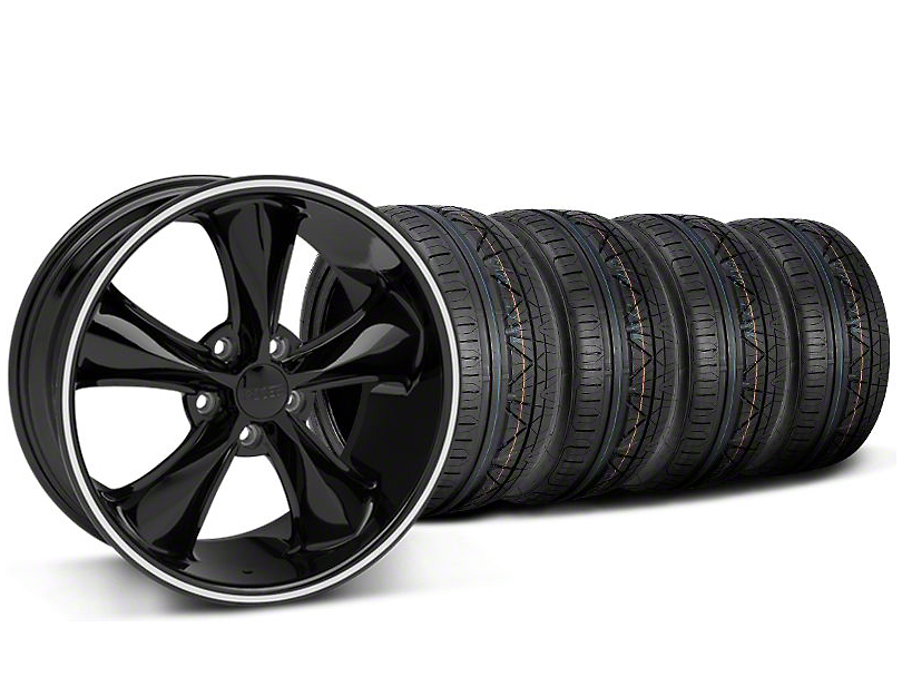 Foose Legend Black Wheel & NITTO INVO Tire Kit - 20x8.5 (05-14 GT, V6)