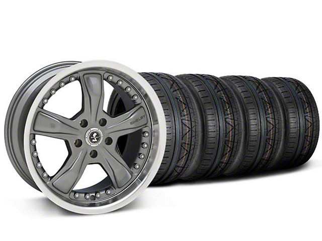Shelby Razor Gunmetal Wheel & NITTO INVO Tire Kit - 20x9 (05-14 All, Excluding 13-14 GT500)