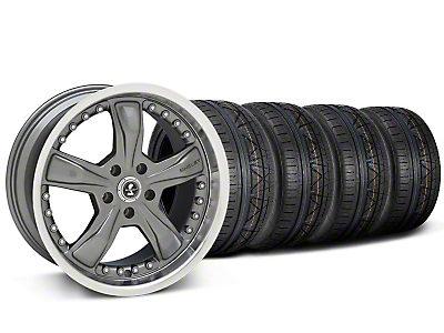 Shelby Razor Gunmetal Wheel & NITTO INVO Tire Kit - 20x9 (05-14 GT, V6; 07-12 GT500)