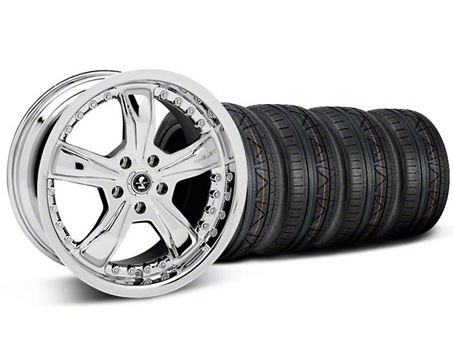 Shelby Razor Chrome Wheel & NITTO INVO Tire Kit - 20x9 (05-14 GT, V6)