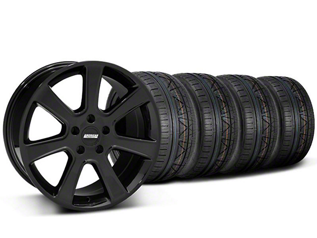 S197 Saleen Style Black Wheel and NITTO INVO Tire Kit; 20x9 (05-14 All)