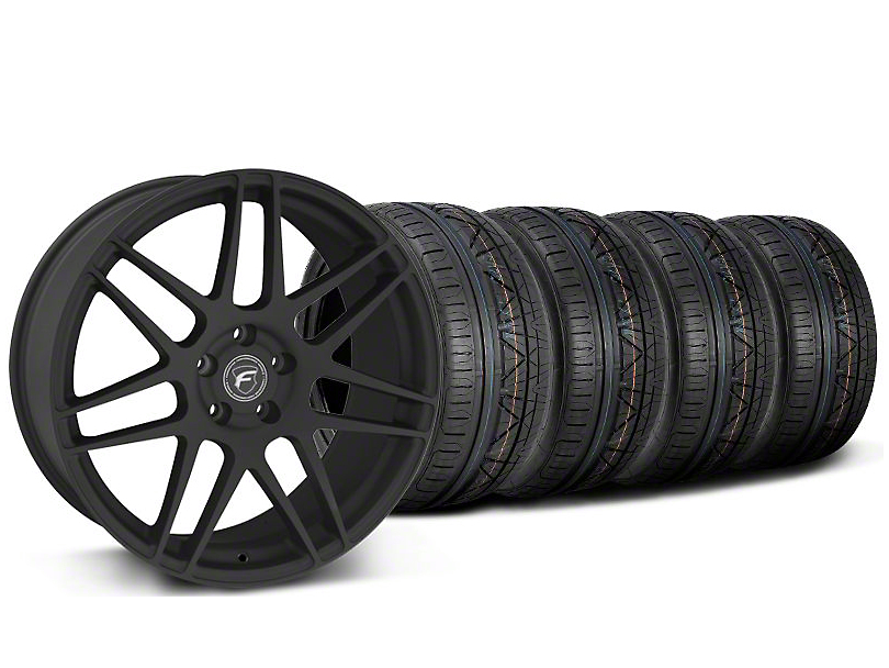 Forgestar F14 Monoblock Textured Black Wheel & NITTO INVO Tire Kit - 20x9 (05-14)