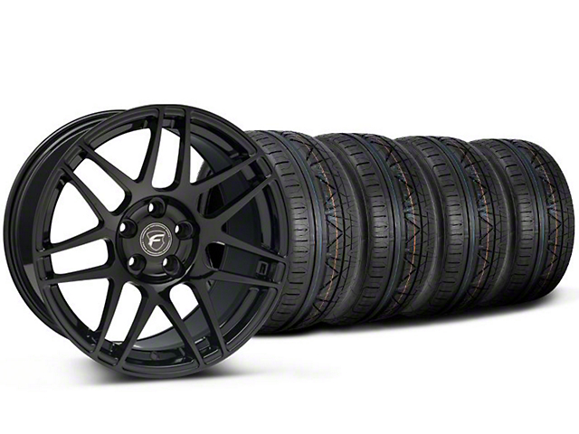 Forgestar F14 Monoblock Piano Black F14 Monoblock Wheel & NITTO INVO Tire Kit - 20x9 (05-14 All)
