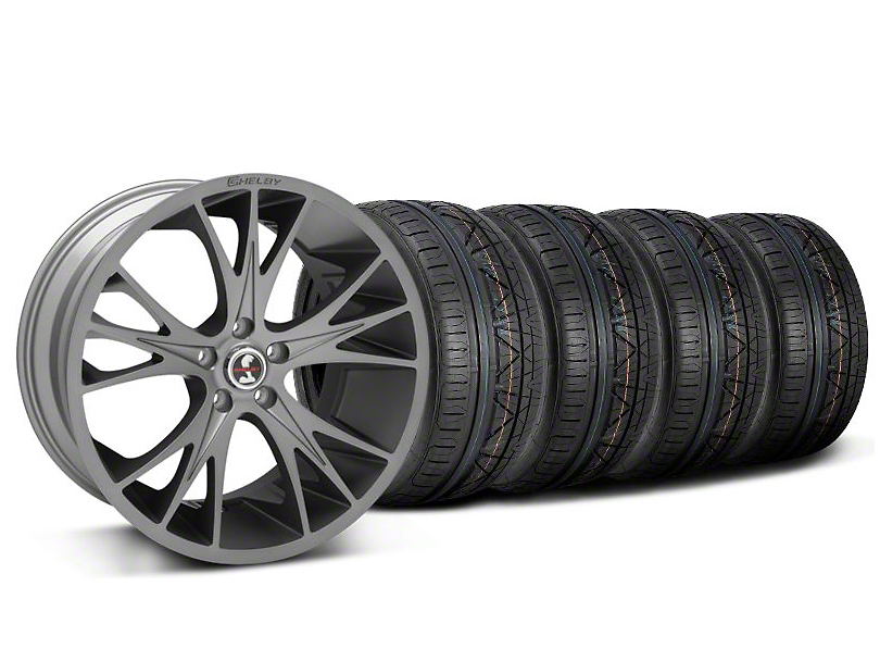 Shelby CS1 Gunmetal Wheel & NITTO INVO Tire Kit - 20x9 (05-14)