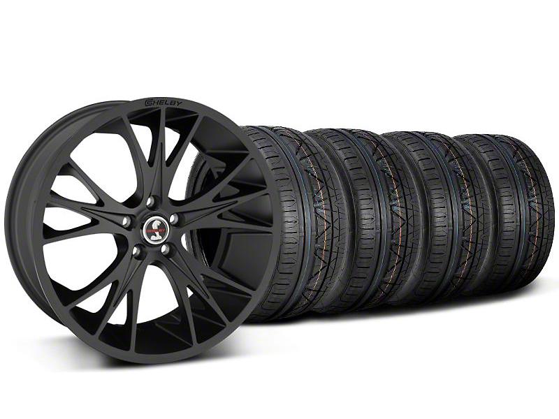 Shelby CS1 Matte Black Wheel & NITTO INVO Tire Kit - 20x9 (05-14 All)