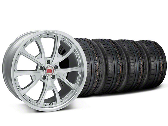 Shelby CS40 Silver Machined Wheel & NITTO INVO Tire Kit - 20x9 (05-14)