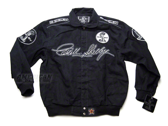 Black Shelby Mustang Twill Racing Jacket
