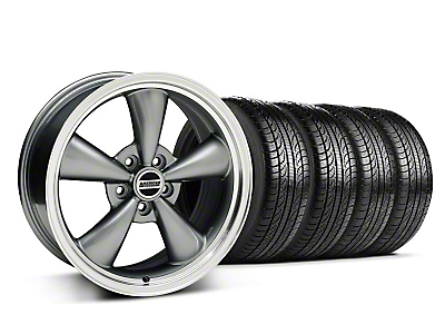 Bullitt Anthracite Wheel & Pirelli Tire Kit - 18x8 (05-10 GT; 05-14 V6)