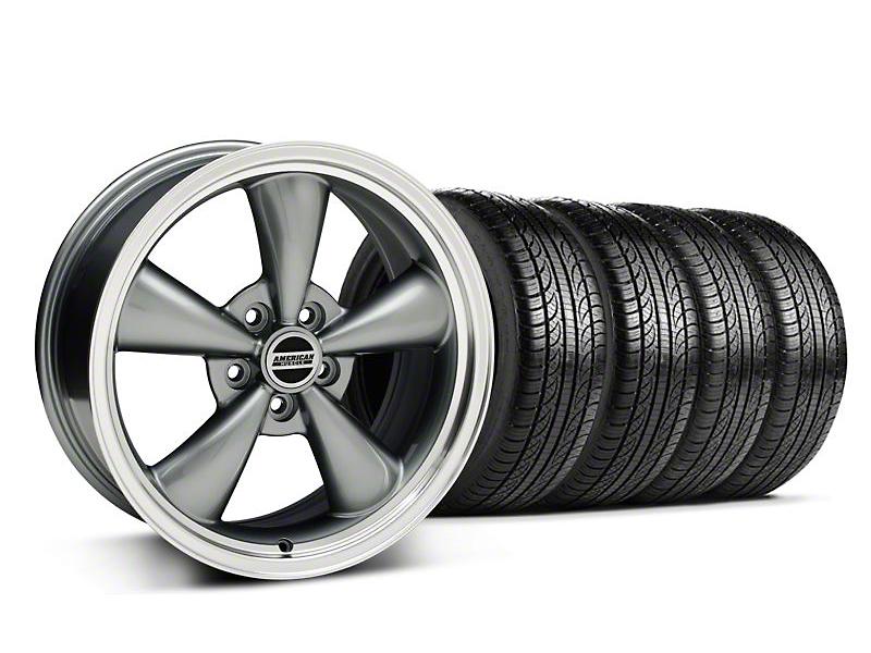 Bullitt Anthracite Wheel & Pirelli Tire Kit - 18x8 (05-14 GT, V6)