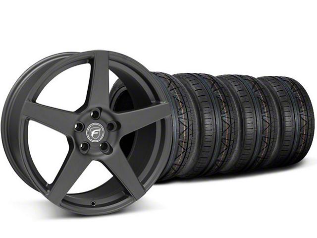 Staggered Forgestar CF5 Monoblock Matte Black Wheel & NITTO INVO Tire Kit - 18x9/10 (05-14 All)