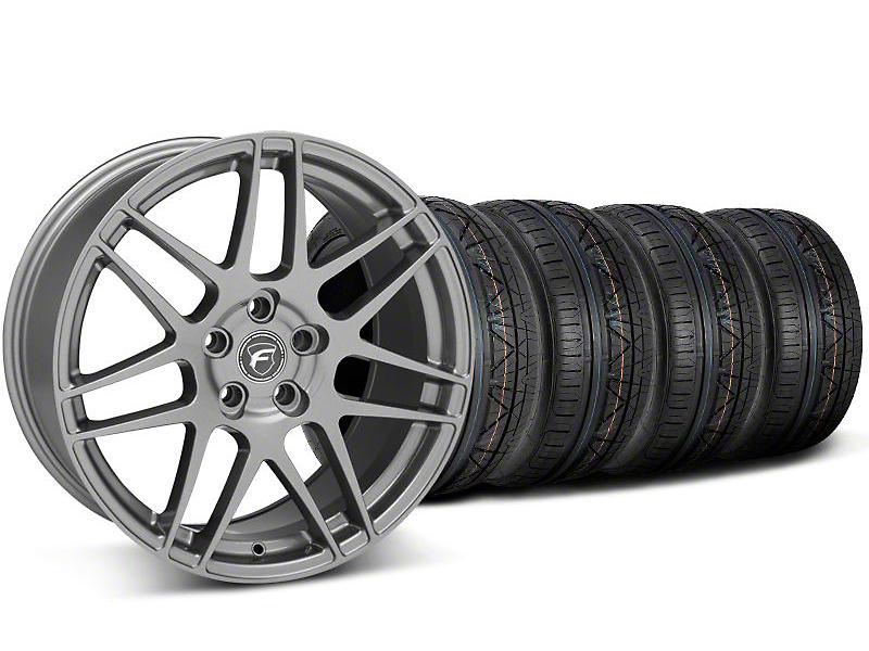 Staggered Forgestar F14 Monoblock Gunmetal Wheel & NITTO INVO Tire Kit - 18x9/10 (05-14 All)