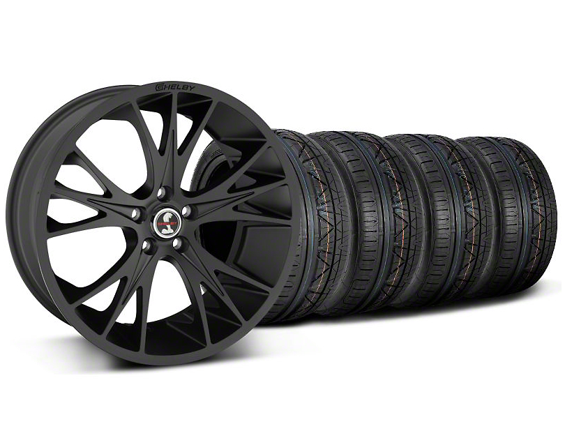 Staggered Shelby CS1 Matte Black Wheel & NITTO INVO Tire Kit - 20x9/11 (05-14 All)