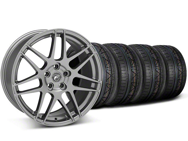 Staggered Forgestar F14 Monoblock Gunmetal Wheel & NITTO INVO Tire Kit - 20x9/11 (05-14 All)